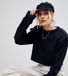 Reclaimed Vintage Revived Cropped Military Sweater