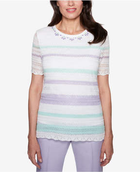 Alfred Dunner Roman Holiday Embellished Sweater