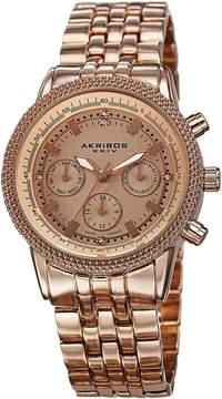 Akribos XXIV Rose Gold-tone Alloy Men's Watch