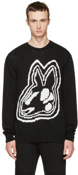 McQ Black Intarsia Bunny Sweater