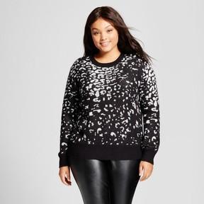 Ava & Viv Women's Plus Size Pullover Animal Print