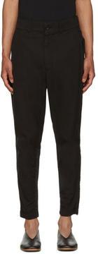 Issey Miyake Black Cotton Jodhpur Trousers