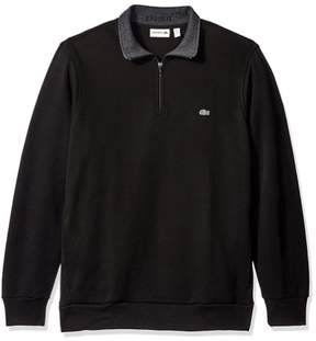 Lacoste Mens Solid Knit Sweater Black 3XL