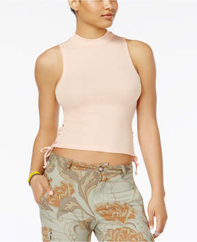 American Rag Juniors' Lace-Up Crop Top, Created for Macy's