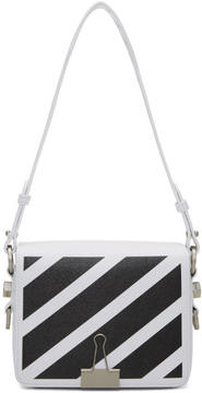 Off-White White Diagonal Binder Clip Bag