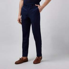 River Island Mens Navy tailored suit pants