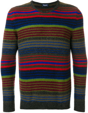 Drumohr striped crew neck jumper