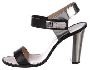 Max Mara Leather Ankle Strap Sandals