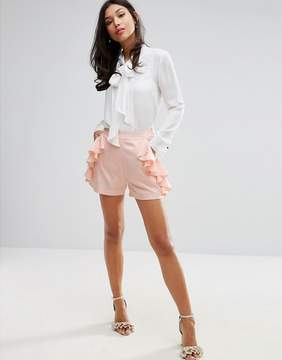 Fashion Union Shorts With Frill Detail