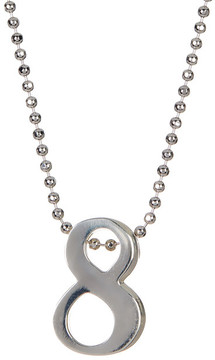 Alex Woo Sterling Silver Little Big '8' Pendant Necklace