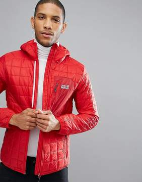 Jack Wolfskin Andean Peaks Square Quilted Jacket in Red