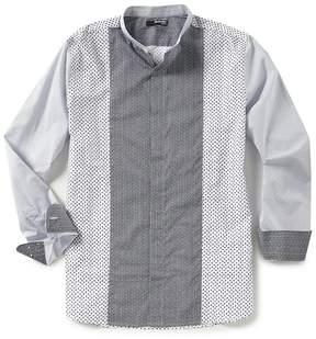 Murano Slim-Fit Pieced Print Long-Sleeve Woven Shirt