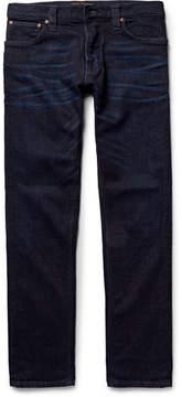 Nudie Jeans Grim Tim Slim-Fit Washed Organic Stretch-Denim Jeans