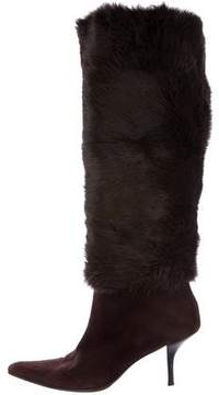 Walter Steiger Fur Knee-High Boots