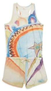 Stella McCartney Toddler's, Little Girl's& Big Girl's Brambles Watercolor-Print Cotton Romper