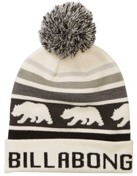 Billabong Women's Cali Love Pompom Beanie - White