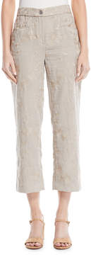 T Tahari Brocade Crop Pants