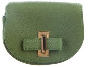 Delvaux Olive Green Leather Pouch