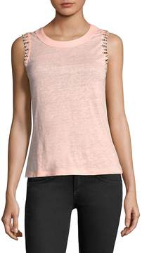 Generation Love Women's Alanis Embellished Linen Top