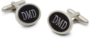 Accessories Engravable Matte Black Cufflinks