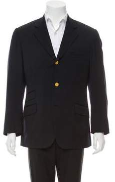 Hermes Super 100'S Wool Three-Button Blazer