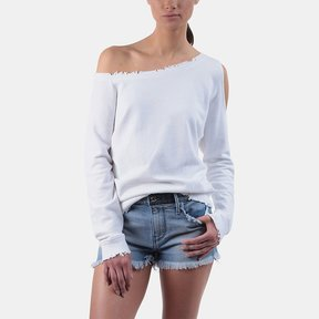 RtA Willow Off-the-Shoulder Cutout Sweatshirt