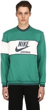 Nike Logo Printed Color Block Sweatshirt