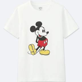 Uniqlo Kid's Mickey Stands Graphic Short-sleeve T-Shirt