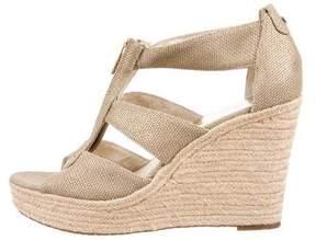 MICHAEL Michael Kors Metallic Wedge Sandals
