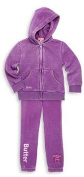 Butter Shoes Baby's & Toddler's Two-Piece Burnout Princess Hoodie & Sweatpants Set