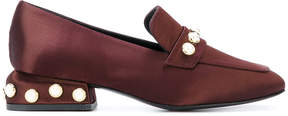 Castaner pearl trim loafers