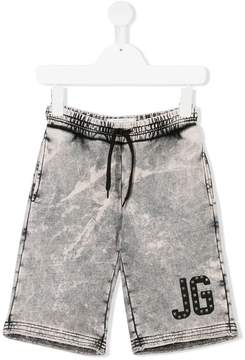 John Galliano bleach effect casual shorts