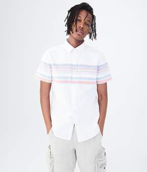 Aeropostale Engineered Stripe Woven Shirt