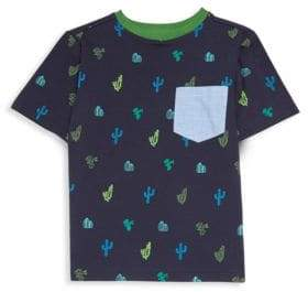Andy & Evan Boy's Cactus Print Pocket T-Shirt