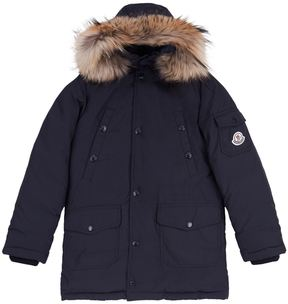 Moncler Yann Fur Trim Coat