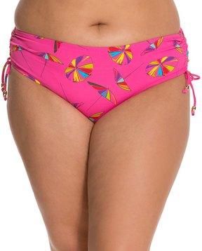 Anne Cole Plus Size Umbrella's Alex Side Tie Pant Bottom 8112790