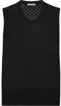 Bottega Veneta Perforated Silk Tank - Black