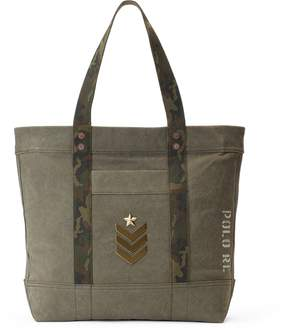 Ralph Lauren Military Canvas Tote Bag