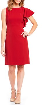 Alex Marie Claire Ruffle Shoulder Sheath Dress