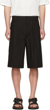 Lemaire Black Poplin Shorts