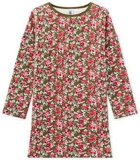 Petit Bateau Girl's print fleece dress