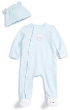 Little Me Infant Boy's Bear Footie & Beanie Set