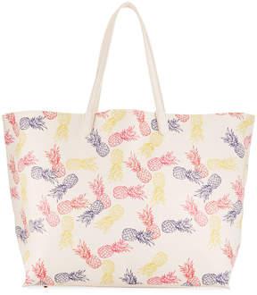 Neiman Marcus Pineapple Printed Tote Bag