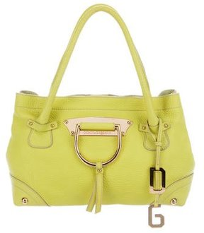 Dolce & Gabbana Pebbled Leather Tote - YELLOW - STYLE