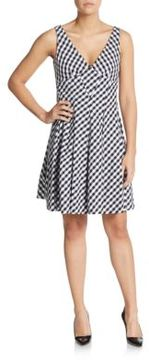 Betsey Johnson Gingham Check Fit-And-Flare Dress