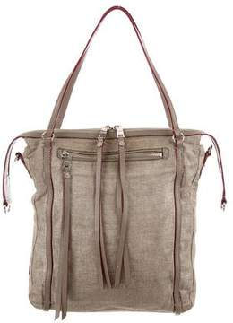 MZ Wallace Leather-Trimmed Canvas Satchel