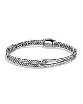 David Yurman Petite Pavé Labyrinth Single-Loop Bracelet with Diamonds