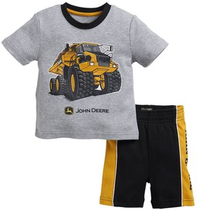 John Deere Baby Boy Dump Truck Graphic Tee & Shorts Set