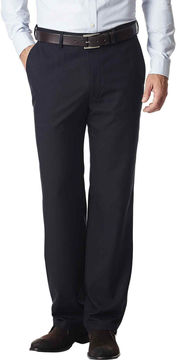 Haggar Straight-Fit Flat-Front Gabardine Dress Pants
