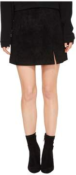 Blank NYC Suede Mini Skirt in Black/Seal The Deal Women's Skirt